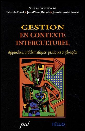 Gestion en contexte interculturel 1ère de couverture