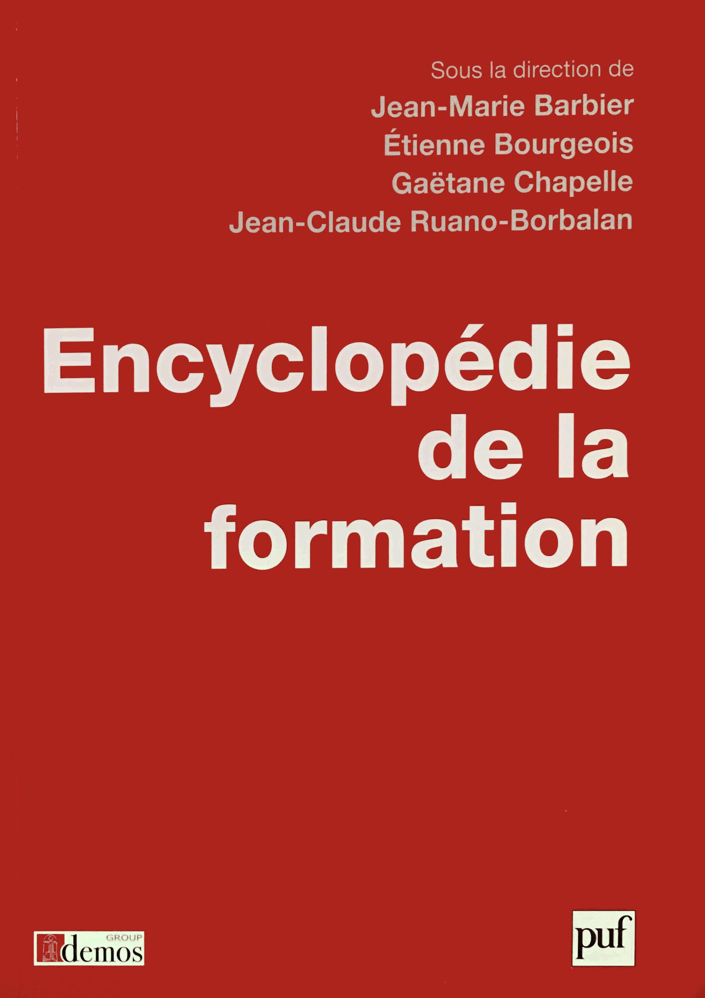 Encyclopédie de la formation 1ère de couverture