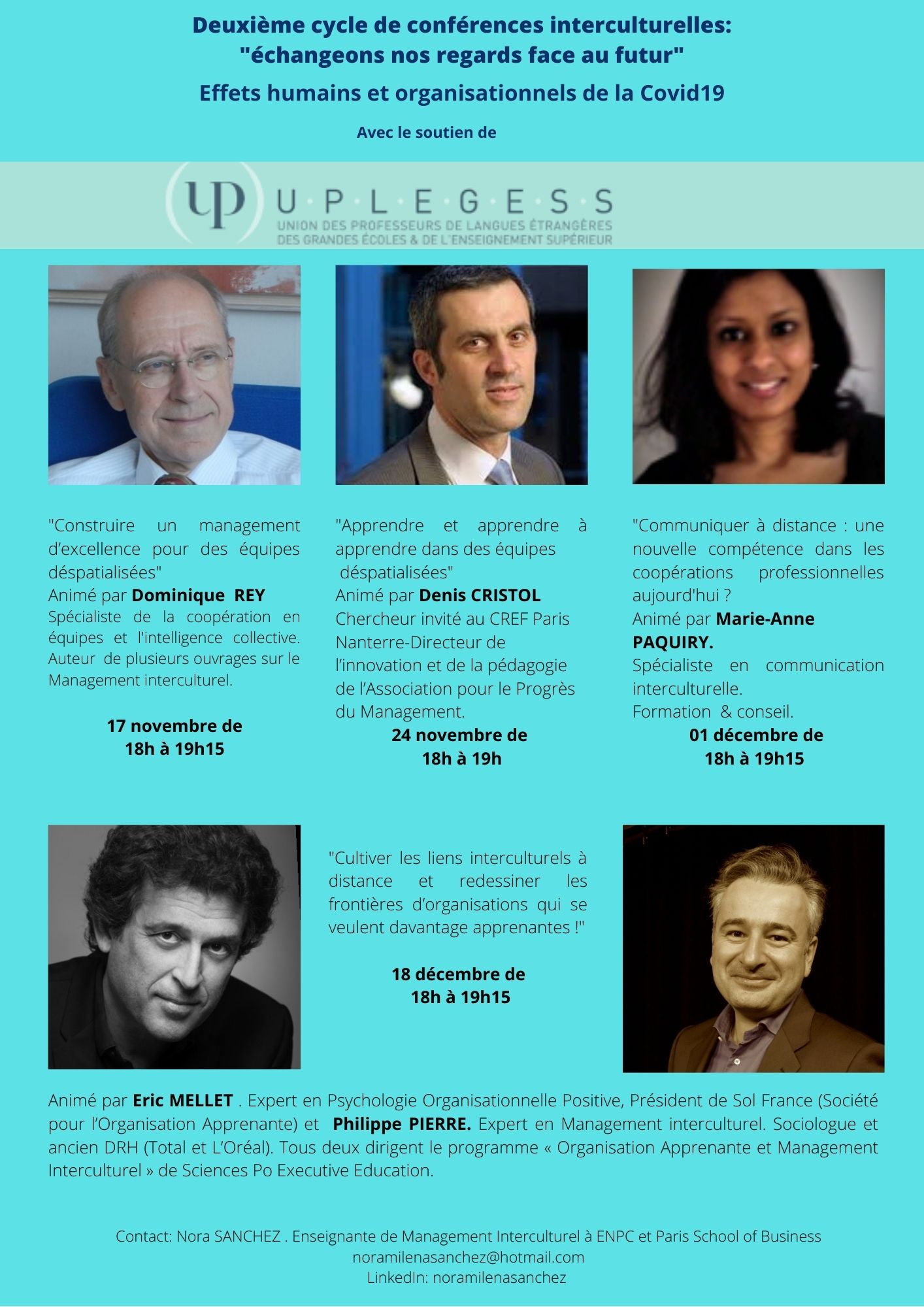 Deuxième cycle de conférences en management interculturel _ échangeons nos regards face au futur (3)